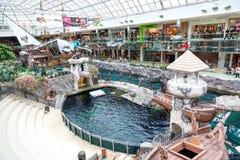 Западный мол Эдмонтона в Альберте, Канаде Стоковая Фотография RF