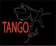 Запальчиво линия фестиваля одного танго Стоковые Изображения RF