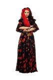 Запальчиво цыганская женщина стоковая фотография rf