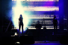 Запев рок-концерта Emre Aydin вокальный Стоковые Изображения RF