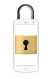 Запертая концепция smartphone Стоковое фото RF