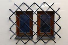 запертые окна Стоковая Фотография
