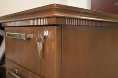 Запертый ящик стола Стоковая Фотография RF