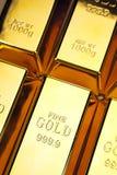 запирает взгляд сверху золота крупного плана Стоковые Фотографии RF