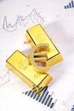 запирает взгляд сверху золота крупного плана Стоковые Изображения RF