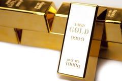 запирает изолированное золото крупного плана Стоковое Изображение