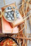 запирает мыло корзины handmade Стоковая Фотография RF