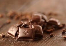 запирает поле глубины шоколада отмелое Стоковые Изображения