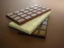 запирает поле глубины шоколада отмелое Стоковые Изображения RF