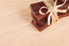 запирает связанную тесемку шоколада Стоковые Изображения