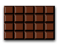 запирает темноту шоколада Стоковое фото RF