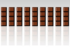 запирает шоколад иллюстрация вектора