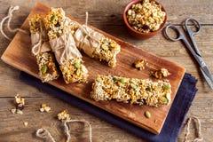 запирает granola домодельный Стоковые Изображения