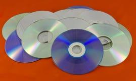 Записываемые цифровые диски оптического хранителя памяти Стоковая Фотография RF