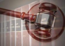 записывает закон правосудия gavel иллюстрация штока
