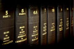 записывает закон Стоковая Фотография RF