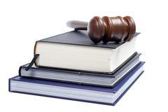 записывает закон gavel деревянный Стоковое Фото