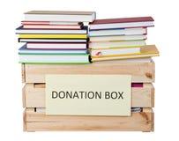 Записывает коробку пожертвований изолированную на белой предпосылке Стоковая Фотография RF