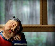 записывает окно куклы Стоковая Фотография