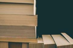 Записывает предпосылку Старый год сбора винограда записывает предпосылку Образование и знание, концепция учат, исследования и пре Стоковое Фото