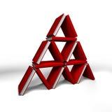 записывает треугольник Стоковое фото RF