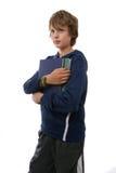 записывает удерживание мальчика Стоковые Изображения RF