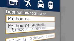 Записывая гостиница в Мельбурне, Австралии онлайн Туризм связал перевод 3D бесплатная иллюстрация