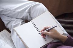 Запись идеи в ослабляя атмосфере Стоковые Изображения