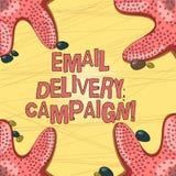 Запись кампании доставки электронной почты показа примечания Фото дела showcasing отправляющ коммерчески сообщение в группу в сос бесплатная иллюстрация