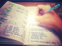 Запись на bool с винтажным стилем цвета Стоковые Фото