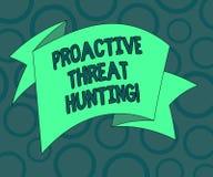 Запись примечания показывая активное звероловство угрозой Фото дела showcasing сфокусированный и итеративный подход к искать вне  бесплатная иллюстрация