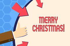 Запись примечания показывая веселое рождество Торжество декабрь курортного сезона фото дела showcasing иллюстрация вектора