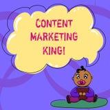 Запись примечания показывая выходя на рынок короля содержания Содержание фото дела showcasing центрально к успеху вебсайта бесплатная иллюстрация