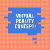 Запись примечания показывая концепцию виртуальной реальности Фото дела showcasing искусственная окружающая среда которая создана  бесплатная иллюстрация