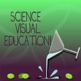 Запись примечания показывая науке визуальное образование Showcasing фото дела использует infographic для того чтобы понять коктей иллюстрация вектора