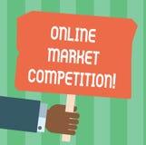 Запись примечания показывая онлайн рыночную конкуренцию Соперничество фото дела showcasing между компаниями продавая такой же про бесплатная иллюстрация