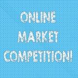 Запись примечания показывая онлайн рыночную конкуренцию Соперничество фото дела showcasing между компаниями продавая такой же про иллюстрация штока