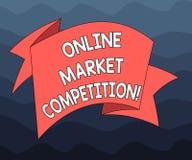 Запись примечания показывая онлайн рыночную конкуренцию Соперничество фото дела showcasing между компаниями продавая такой же про иллюстрация вектора