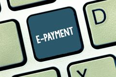 Запись примечания показывая оплату e Путь фото дела showcasing оплачивать для обслуживаний товаров электронно вместо стоковые фотографии rf