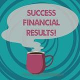 Запись примечания показывая финансовые результаты успеха Количество фото дела showcasing выгоды компания делает во время кружки п иллюстрация штока