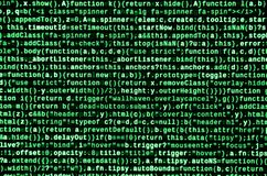 Запись программируя кода на компьтер-книжке Двоичные данные цифров на экране компьютера стоковая фотография rf
