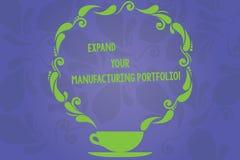 Запись текста почерка расширяет ваше изготовляя портфолио Смысл концепции делает более большой каталог чашки продуктов и бесплатная иллюстрация