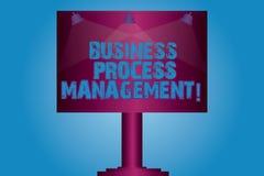 Запись управления бизнес-процесса показа примечания Дисциплина фото дела showcasing улучшать бизнес-процесс иллюстрация штока