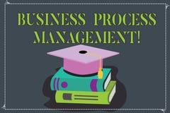 Запись управления бизнес-процесса показа примечания Дисциплина фото дела showcasing улучшать цвет бизнес-процесса иллюстрация штока