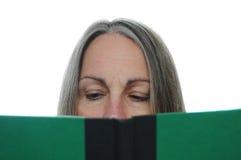запишите женщину чтения Стоковые Фотографии RF