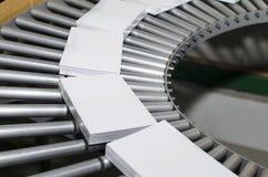 Запишите, производственная линия кассеты в завод прессы стоковое изображение rf