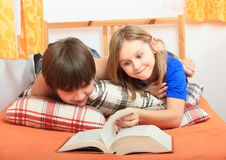 запишите читать малышей Стоковое Изображение RF