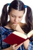 запишите чтение девушки Стоковое Изображение