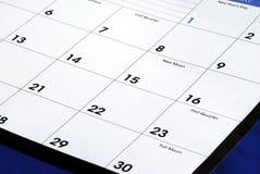 запланирование календарного месяца новое Стоковая Фотография RF