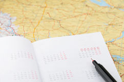 Запланирование каникулы Стоковая Фотография RF